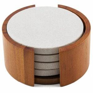 The Best Coasters Option: Thirstystone Sandstone Wood Coaster