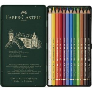最好的彩色铅笔选项:Faber Castell F110012 Polychromos颜色铅笔,12