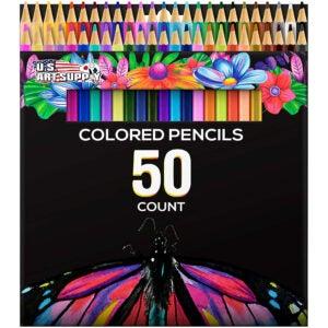最好的彩色铅笔选项:美国艺术供应50片艺术家彩色铅笔套装