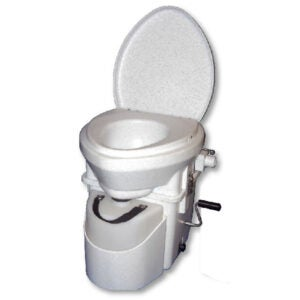 The Best Composting Toilet Options: Nature's Head Dry Composting Toilet with Crank Handle