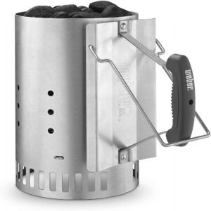 The Best Grilling Tools Options: Weber 7429 Rapidfire Chimney Starter, Silver