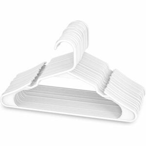 The Best Hangers Option: Sharpty White Plastic Hangers