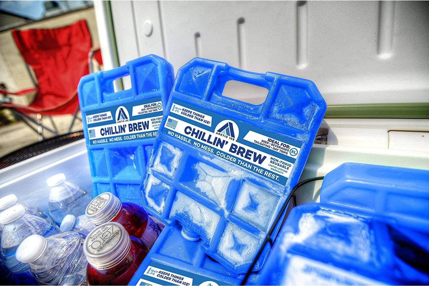 TOURIT Reusable Ice Packs Long Lasting Ice Block Freezer Cool Packs for Coolers,