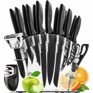 The Best Kitchen Knives Option: Home Hero Stainless Steel Knife Set with Block