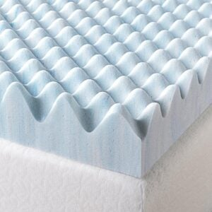 The Best Mattress Topper For Back Pain Options: Zinus 3 Inch Swirl Gel Memory Foam Mattress Topper