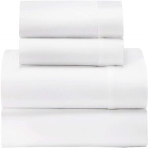 The Best Percale Sheets Options: Feather & Stitch 300 Thread Count Cotton Sheet Set