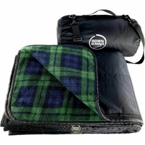 The Best Picnic Blanket Option: DOWN UNDER OUTDOORS Waterproof Fleece Stadium Blanket