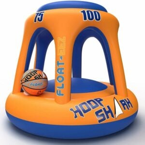 The Best Pool Toys Option: Hoop Shark Swimming Pool Basketball Set by FLOAT-EEZ