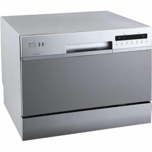 The Best Portable Dishwasher Option: EdgeStar DWP62SV 6 Place Setting Energy Star Rated