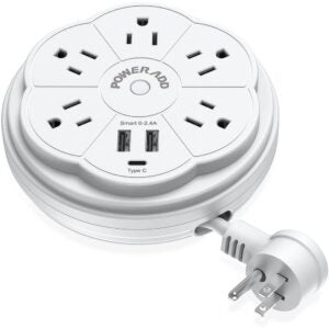The Best Power Strip Options: POWERADD Travel Power Strip 5 Outlet Surge Protector