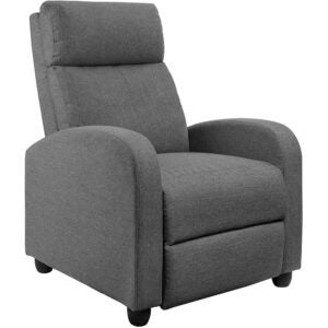 The Best Recliners Options: JUMMICO Fabric Recliner Chair Adjustable