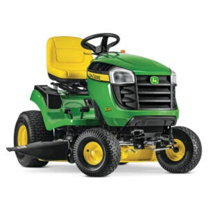The Best Riding Lawn Mower Options:John Deere E120 42 in. 20 HP Lawn Tractor