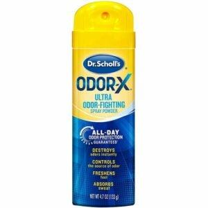 The Best Shoe Deodorizer Option: Dr. Scholl's Odor-X ODOR-FIGHTING Spray Powder