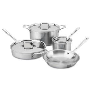 The Best Cookware for Glass-Top Stoves Option: All-Clad Stainless Steel 5-Ply Bonded Cookware Set