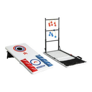The Best Cornhole Board Option: Lifetime Cornhole Ladderball Game and Table Combo