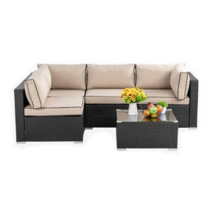 The Best Patio Furniture Option: Walsunny Outdoor Black Rattan Sectional Sofa