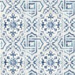 The Best Wallpaper Design Option: Alexis Spanish Tile Geometric Wallpaper
