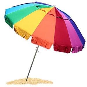 Best Beach Umbrella Options: EasyGo 8 Foot Heavy Duty HIGH Wind Beach Umbrella