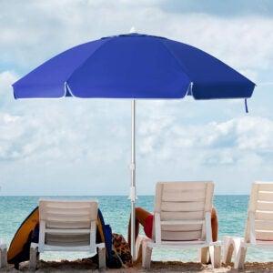 Best Beach Umbrella Options: KITADIN 6.5FT Beach Umbrella Portable Outdoor Patio
