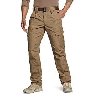 Best Cargo Pants Options: CQR Men's Tactical Pants, Water Repellent Ripstop Cargo Pants