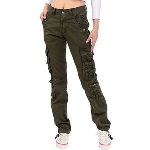 Best Cargo Pants Options: NAWONGSKY Women's Utility Cargo Pants