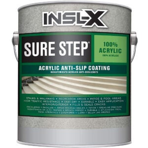 Best Concrete Paint Options: INSL-X SU031009A-01 Sure Step Acrylic