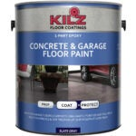 Best Concrete Paint Options: KILZ L377711 1-Part Epoxy Acrylic Interior