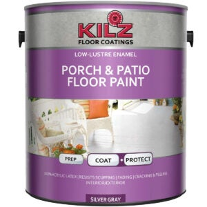 Best Concrete Paint Options: KILZ L573611 Interior Exterior Enamel Porch