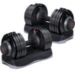 Best Dumbbells Options: Merax Deluxe 71.5 Pounds Adjustable Dial Dumbbell