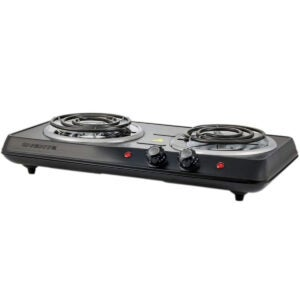 Best Electric Cooktop - Ovente 5.7 & 6 Inch Double Hot Plate Electric Coil Stove