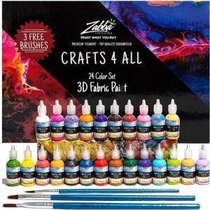 Best Fabric Paint Options: Fabric Paint 3D Permanent 24 Colors