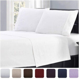 Best Flannel Sheets Options: Mellanni 100% Cotton Flannel Sheet Set