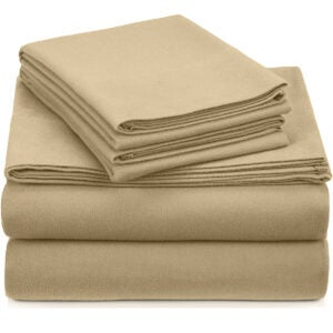 Best Flannel Sheets Options: Pinzon Signature Cotton Heavyweight Velvet