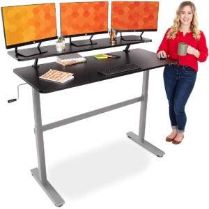 Best Gaming Desk Options: Stand Steady Tranzendesk 55 in Standing Desk