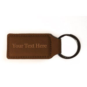 Best Keychain Options: Customized 3D Laser Engraved Custom Personalized Keychain