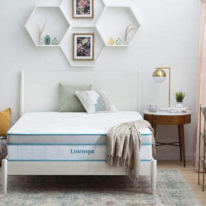Best Mattresses for Side Sleepers Options: Linenspa 12 Inch Memory Hybrid Plush