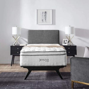 """Best Mattresses for Side Sleepers Options: Modway Jenna 14"""" Quilted Pillow Top Twin Innerspring Mattress"""