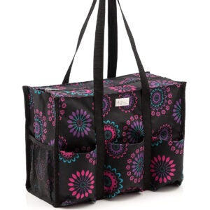 Best Reusable Grocery Bags Options: Pursetti Zip-Top Organizing Utility Tote Bag
