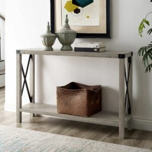 The Black Friday Furniture Option: The Gray Barn Kujawa X-Frame Entry Table