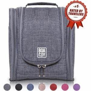 The Toiletry Bag Option: BOACAY Premium Hanging Travel Toiletry Bag