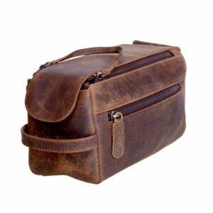 The Toiletry Bag Option: KOMALC Genuine Buffalo Leather Unisex Toiletry Bag