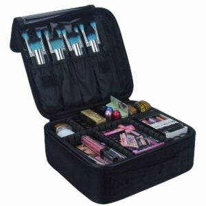 The Toiletry Bag Option:Relavel Travel Makeup Train Case