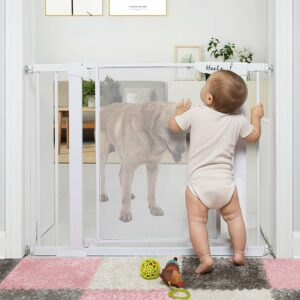 """The Best Baby Gate Option: Heele 29.5-40.5"""" Auto Close Safety Baby Gate,Durable Extra Wide Child Gate for Stairs Doorways"""