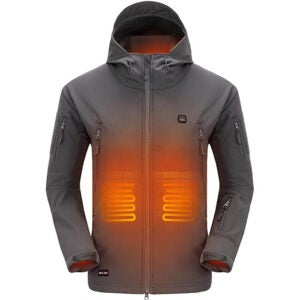 The Best Camping Gadgets Option: DEWBU Heated Jacket with 7-4V Battery Pack Winter Outdoor Soft Shell Electric Heating Coat