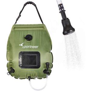 The Best Camping Gadgets Option: Sportneer Solar Shower Bag, 20L_5 Gallon