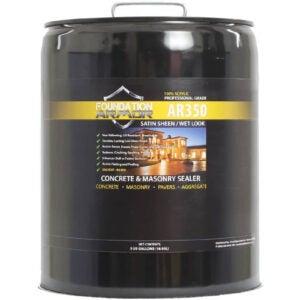 The Best Concrete Sealer Option: Foundation Armor AR350 Wet Look Concrete Sealer