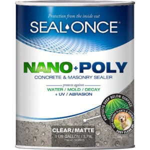 The Best Concrete Sealer Option: SEAL-ONCE SO7910 Nano+Poly Concrete & Masonry Sealer