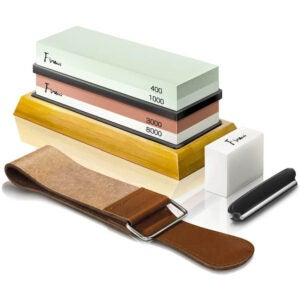 The Best Sharpening Stone Option: Finew Knife Sharpening Stone Kit