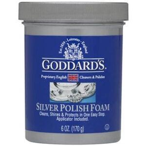 最好的银色波兰菜选项:戈达德斯银抛光机泡沫与海绵涂抹器