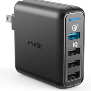 The Best USB Wall Charger Option: Anker Quick Charge 3.0 43.5W 4-Port USB Wall Charger